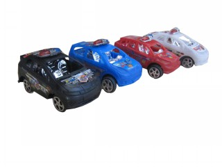4PCS FREE WHEEL POLICE CAR A19-11